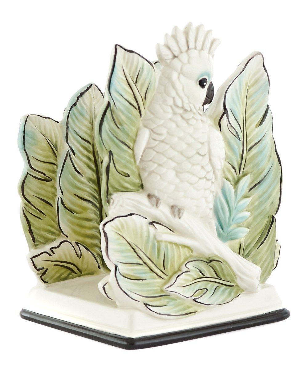 fitz and floyd cockatoo napkin holder