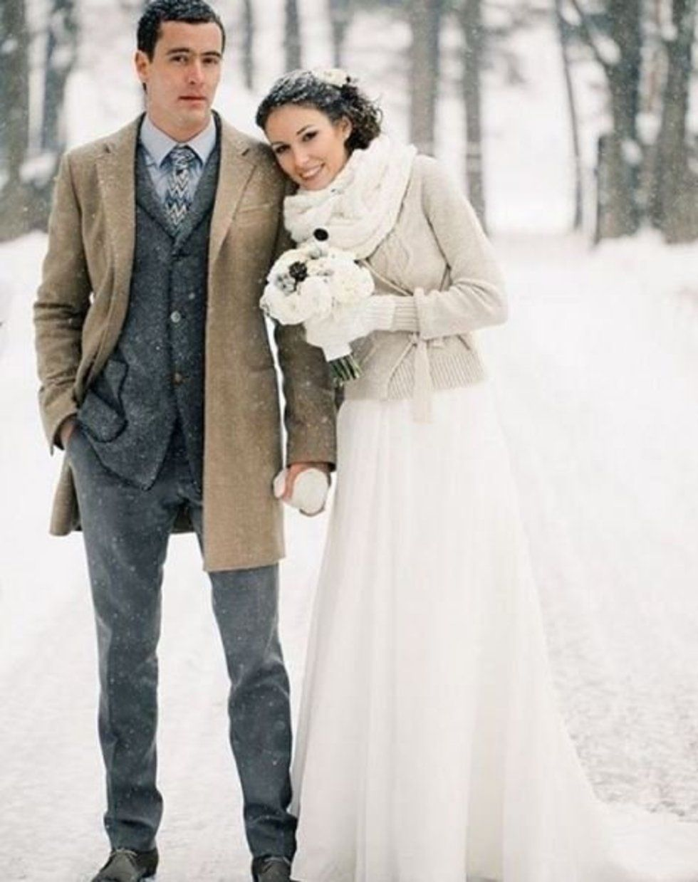christmas wedding dresses From faux fur stoles to vows by candlelight the best winter wedding ideas from Instagram Stylist
