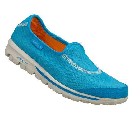Skechers Womens Skechers Gorecovery Slip On Sneakers Blue Orange