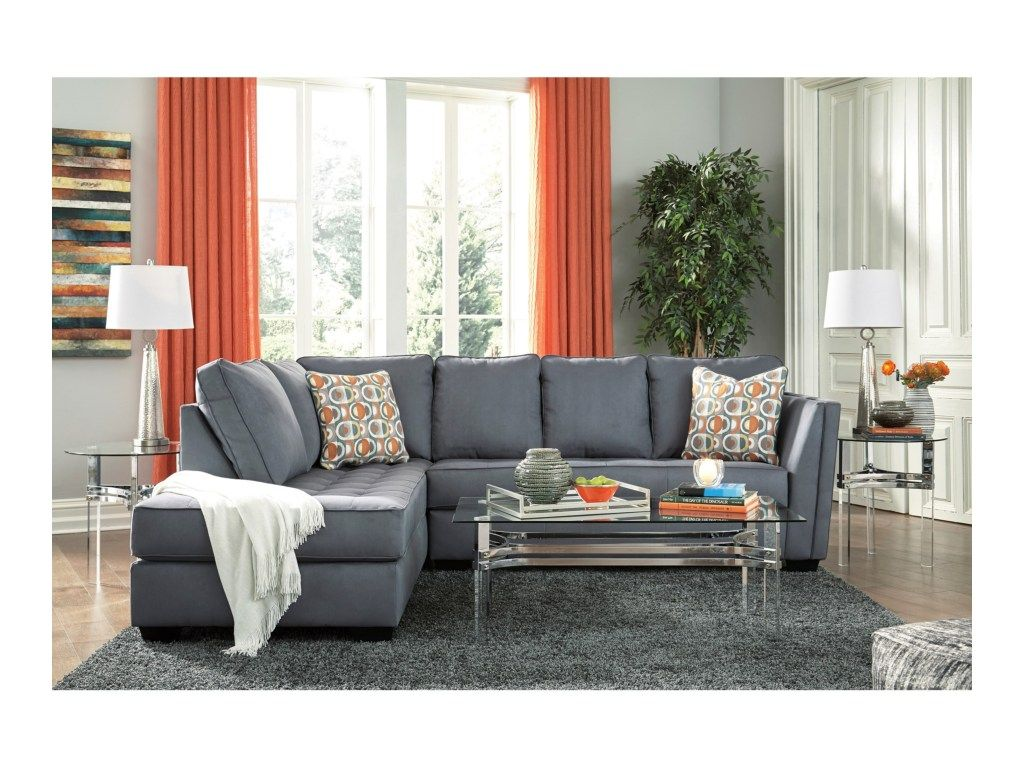 Filone Contemporary Sectional Sofa With Chaise And Cushion Tufting By Signature Design By Ashley At Value City Furniture Furniture Contemporary Sectional Sofa City Living Room