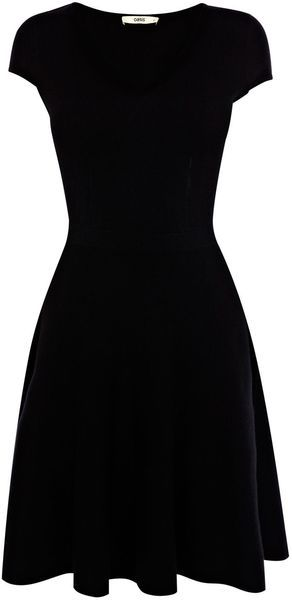 Oasis Fit and Flare V Neck Dress - Lyst