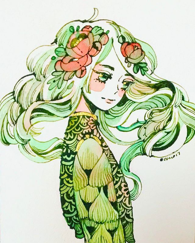 Resilient by maruti_bitamin (beautiful green art girl