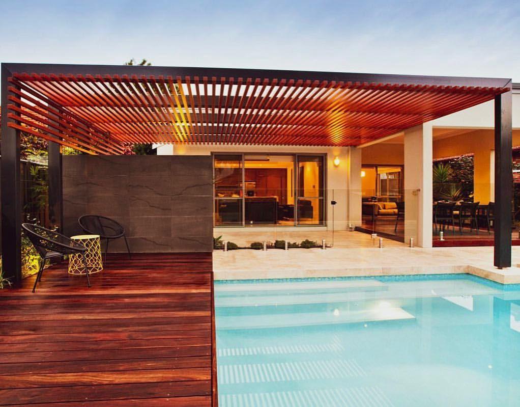 Wood Look Aluminium Systems No Maintenance Australian Made With Images Pergola Backyard Beams