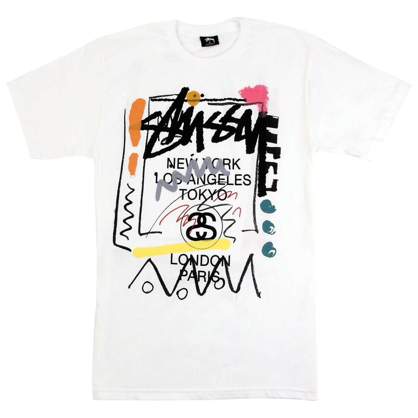 3ed54093 Stussy World Tour Doodle T Shirt in White | T-Shirts in 2019 ...