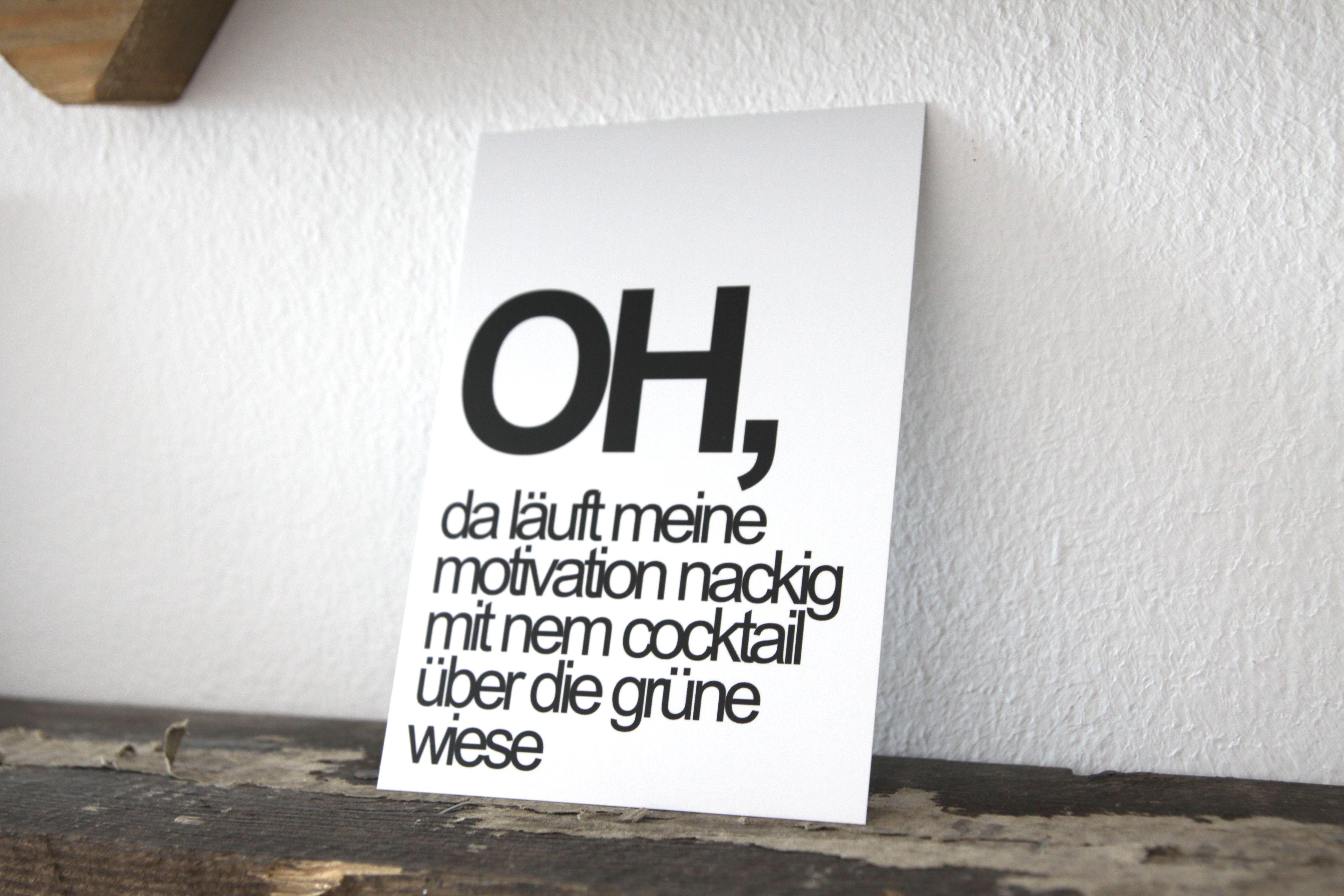 Typocard Motivation T014 Postcard Humor Motivation Poster