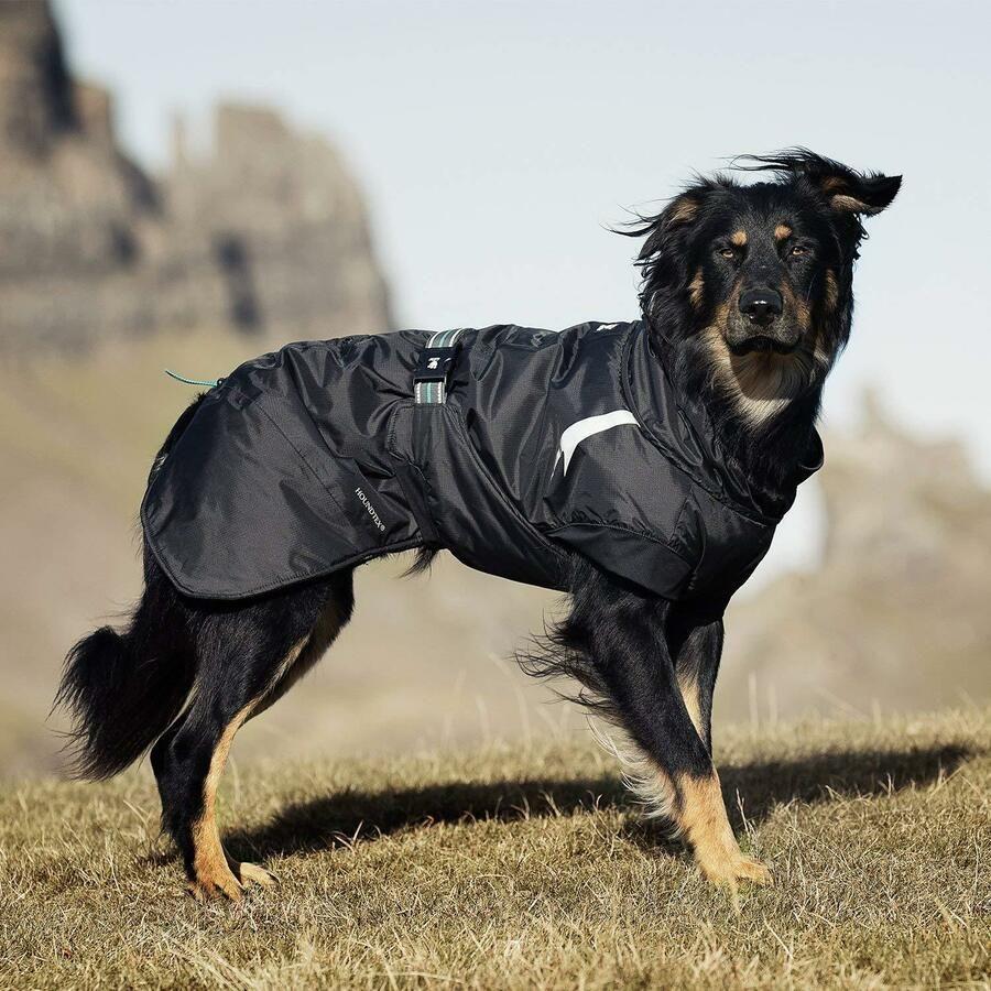Hurtta Parka Dog Coat Raven Black Or Pink Use Over Harness Summit