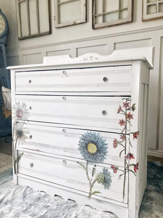 wildflower botanicals transfer 19 iod furniture on fantastic repurposed furniture projects ideas in time for father s day id=16464