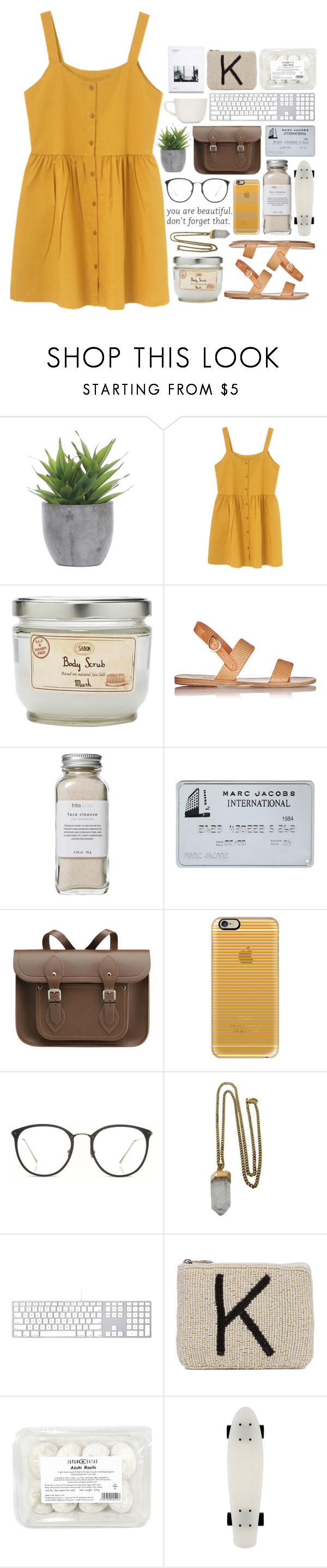 """""""Sin título #109"""" by marinaestepa ❤ liked on Polyvore featuring Lux-Art Silks, Ancient Greek Sandals, Très Pure, The Cambridge Satchel Company, Casetify, Linda Farrow, Lacey Ryan, Akira Black Label and iittala"""
