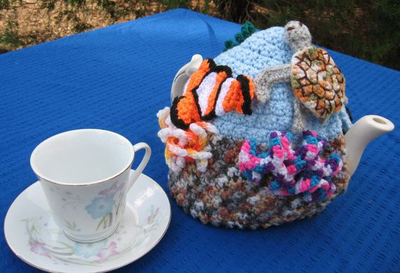 Under the tea coral reef tea cosy. Made to order your by SueDZine