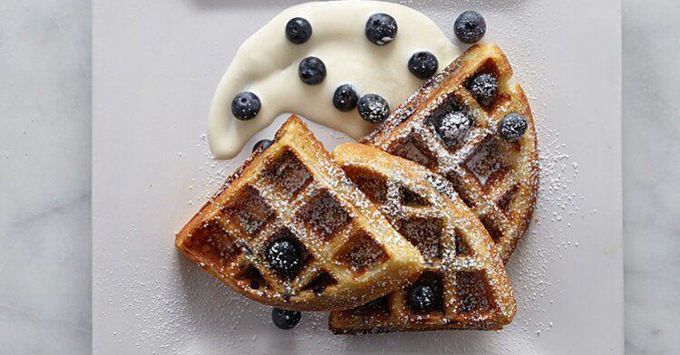 Blueberry Buttermilk Waffles Recipe In 2020 Buttermilk Waffles Waffle Recipes Waffles