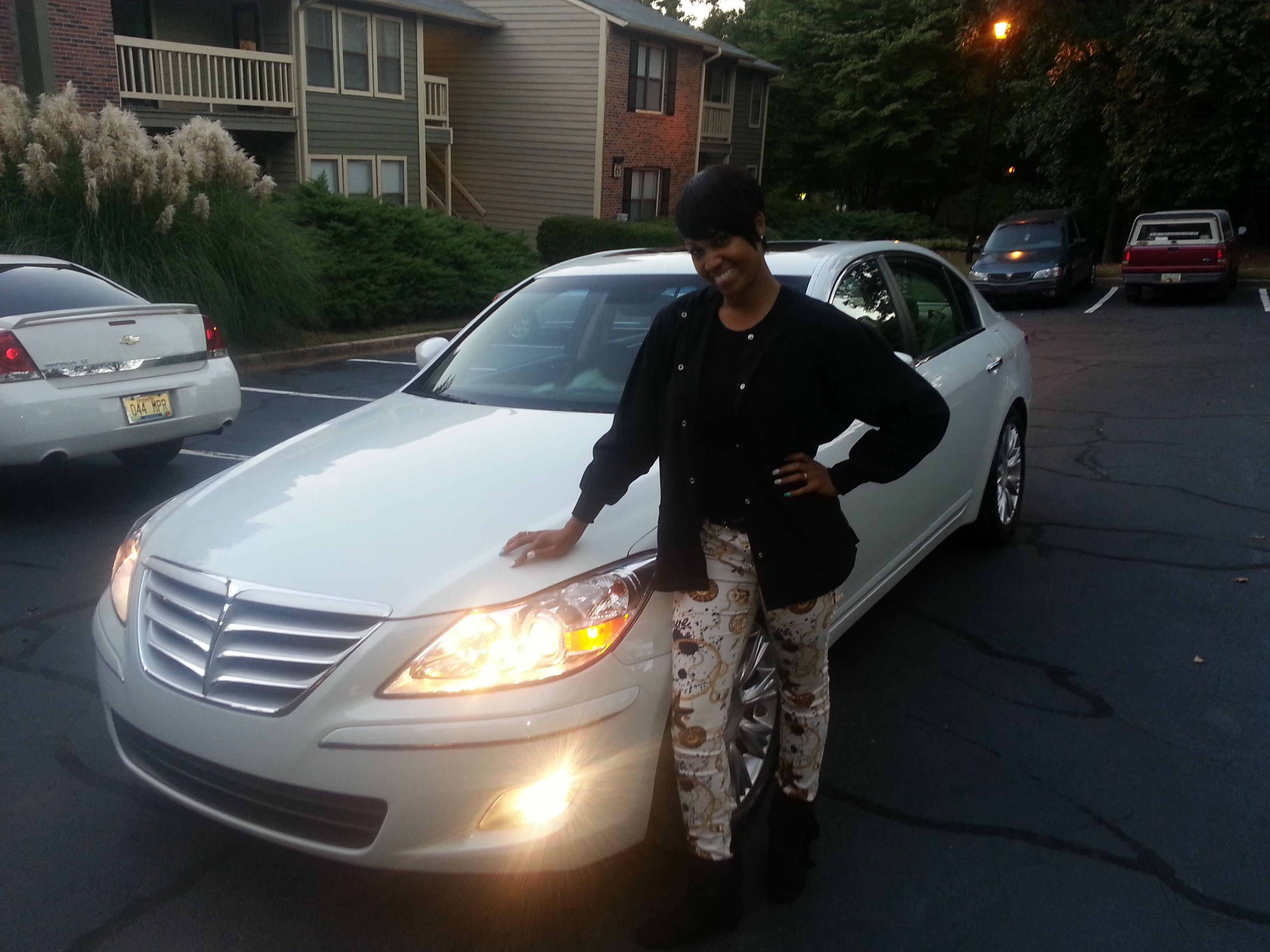 Congratulations to chancey t on his new 2010 hyundai