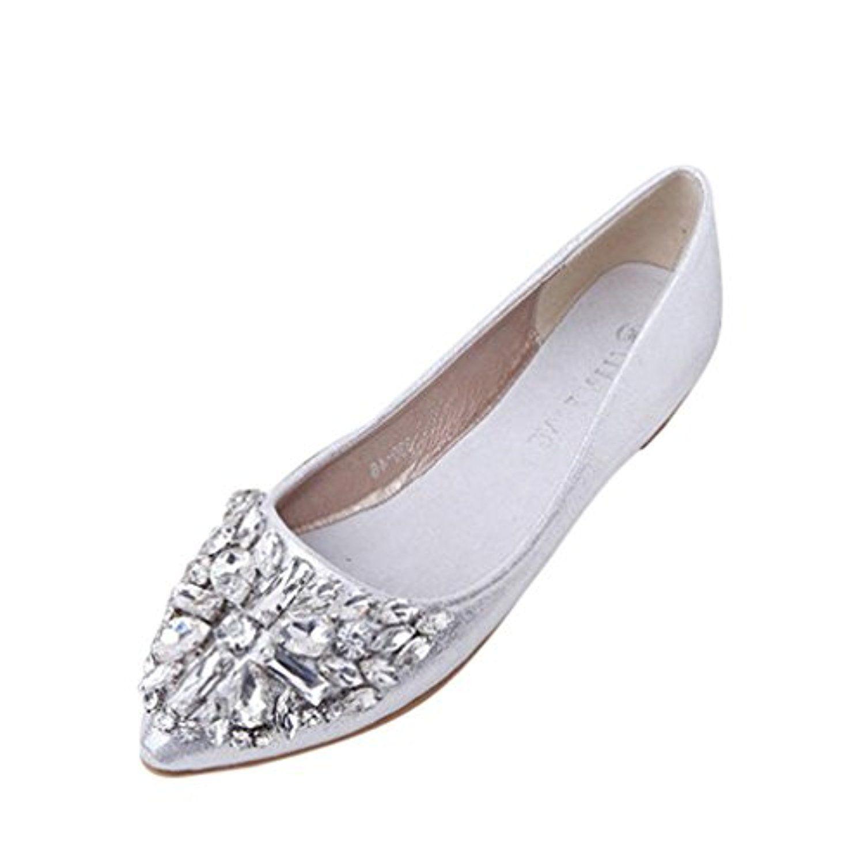 Nouveau Femmes Suede Flats mode de haute qualité Couleurs de base Pointy Toe ballerine Ballet Slip à plat Chaussures,rose,35