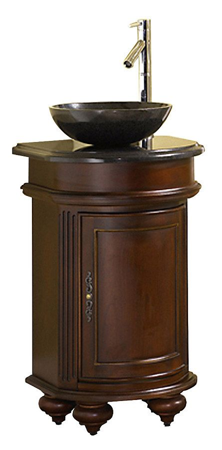 24 Inch Antique Vessel Sink Bathroom Vanity With Images
