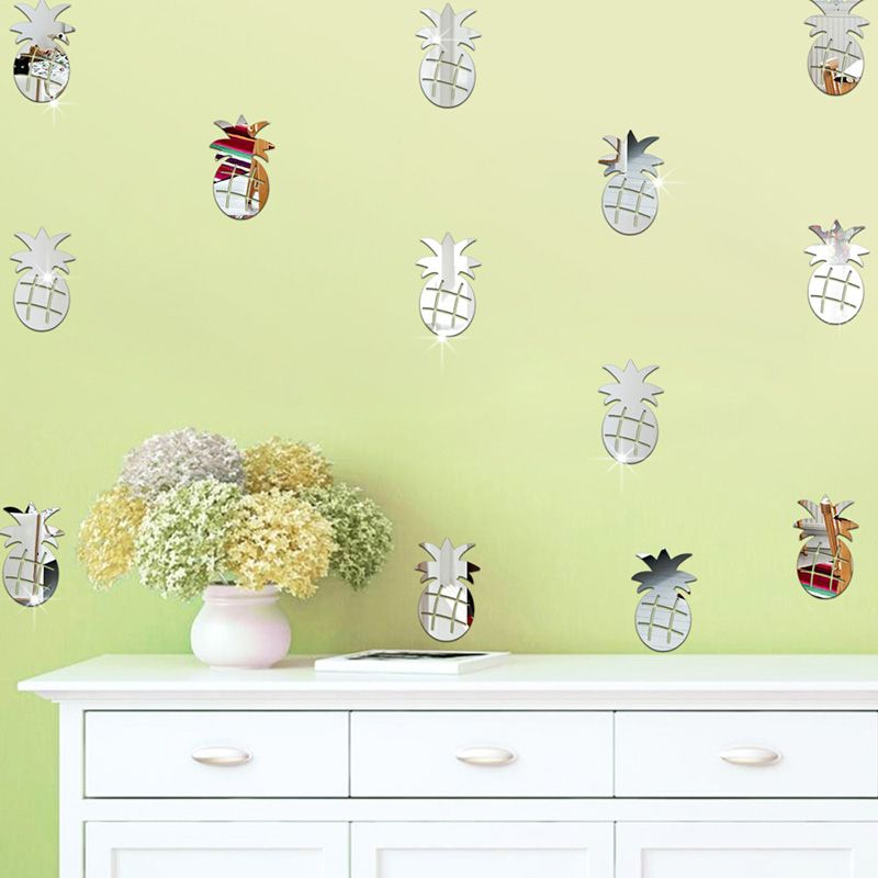 12pcs/set 5*8.5cm Pineapple DIY 3D Acrylic Wall Stickers Kids Room ...