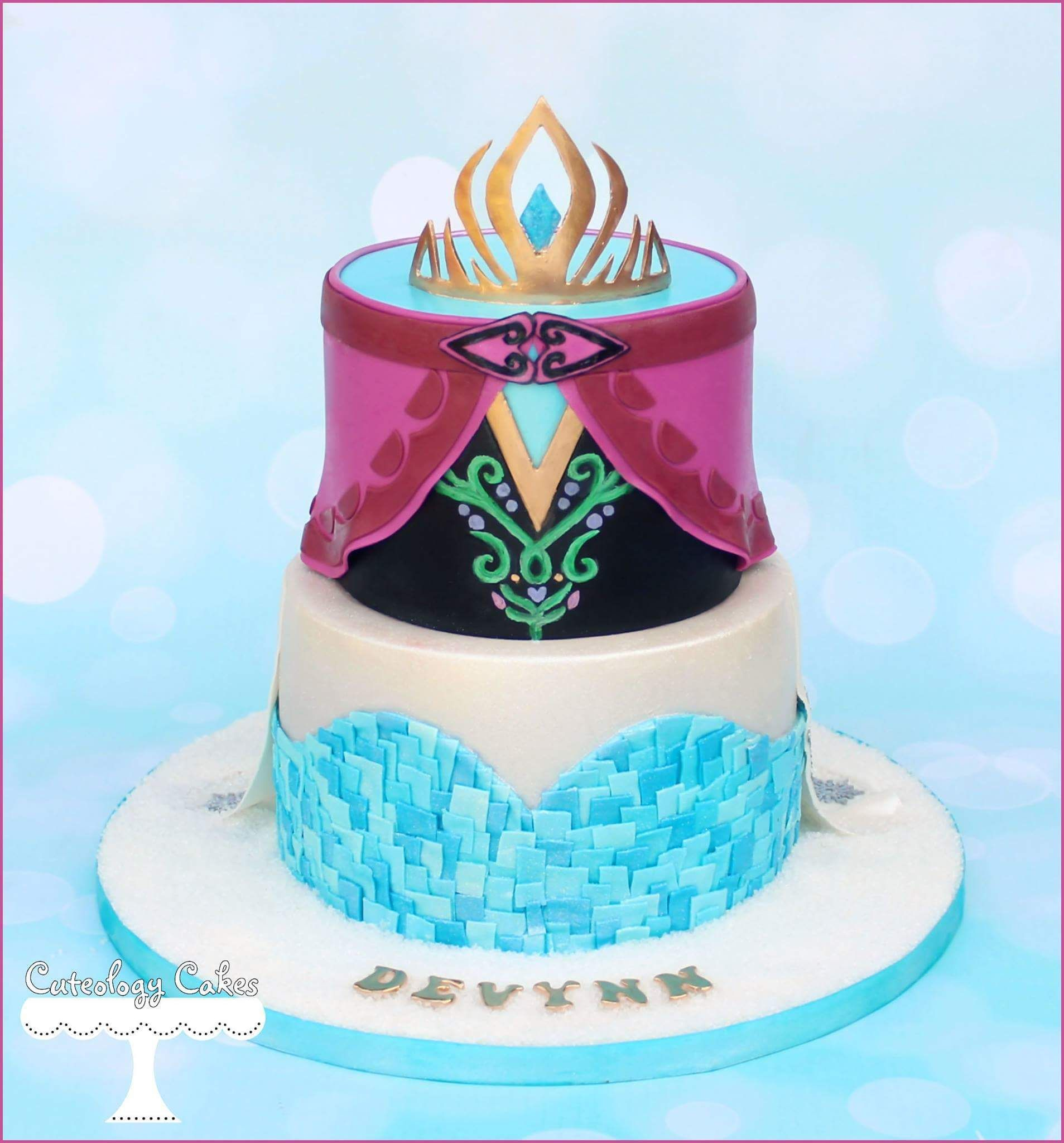 Elsa Amp Anna Frozen Themed Cake Theme Party All About