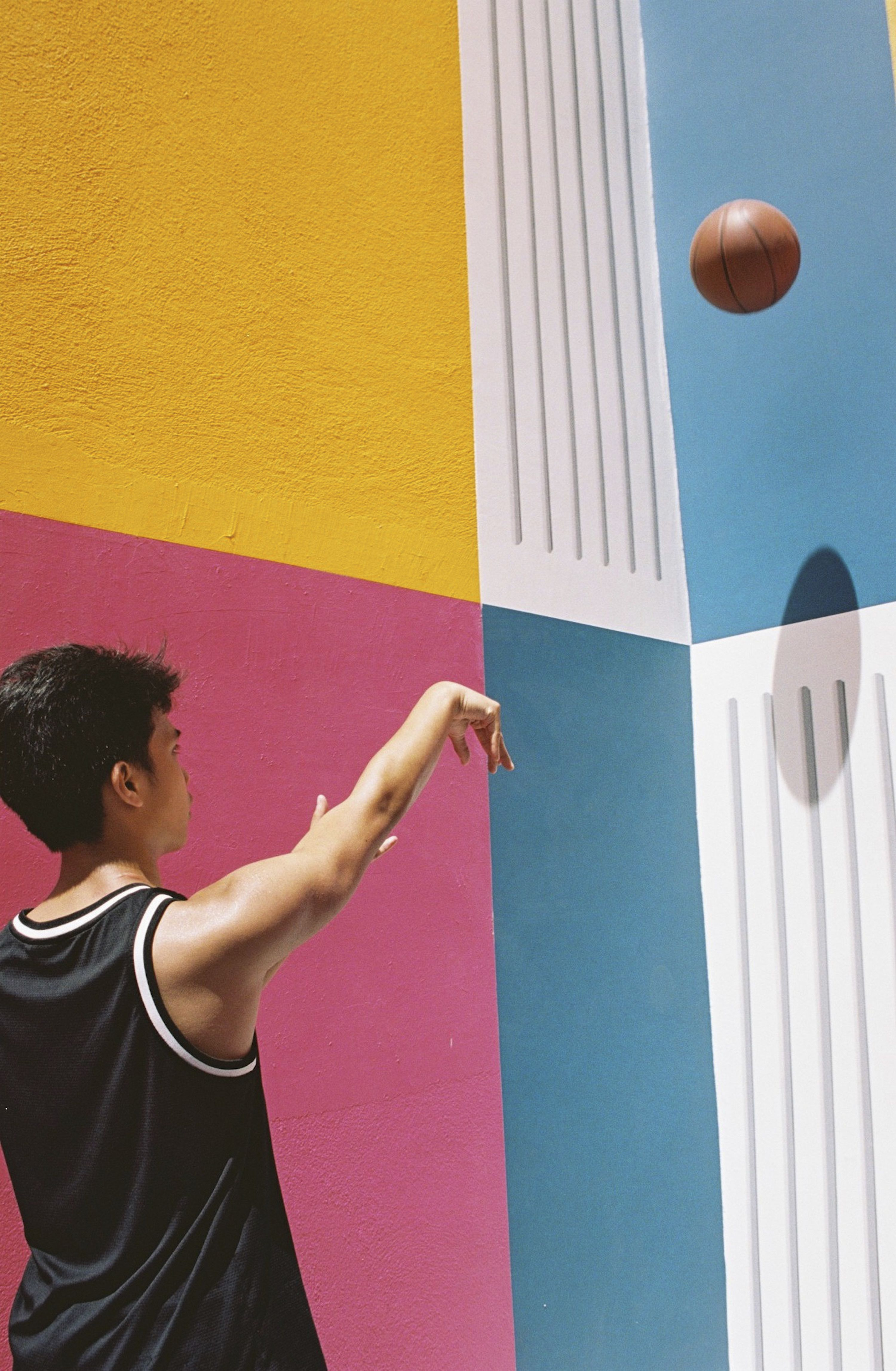 Photographing The Magic Of A Technicolor Basketball Court In Paris  Id