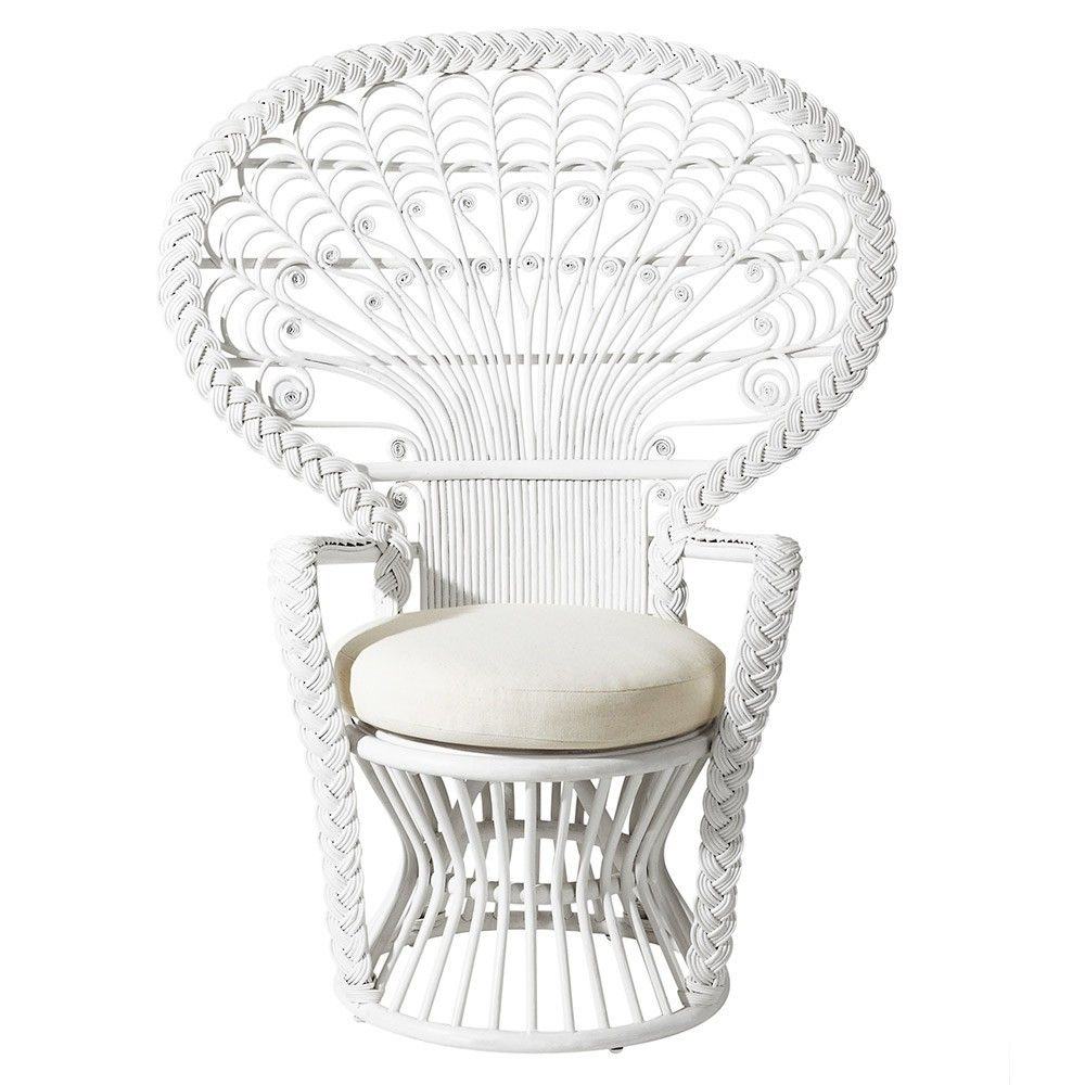 White Peacock Chair The Antigua Collection Temple Webster