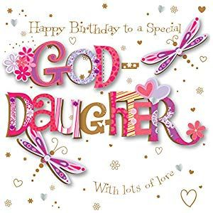 Goddaughter Birthday Handmade Embellished Greeting Card By Talking Pictures Cards