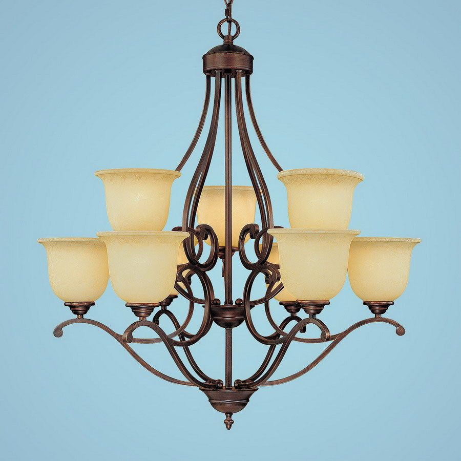 Shop Millennium Lighting Courtney Lakes 9-Light Rubbed Bronze ...