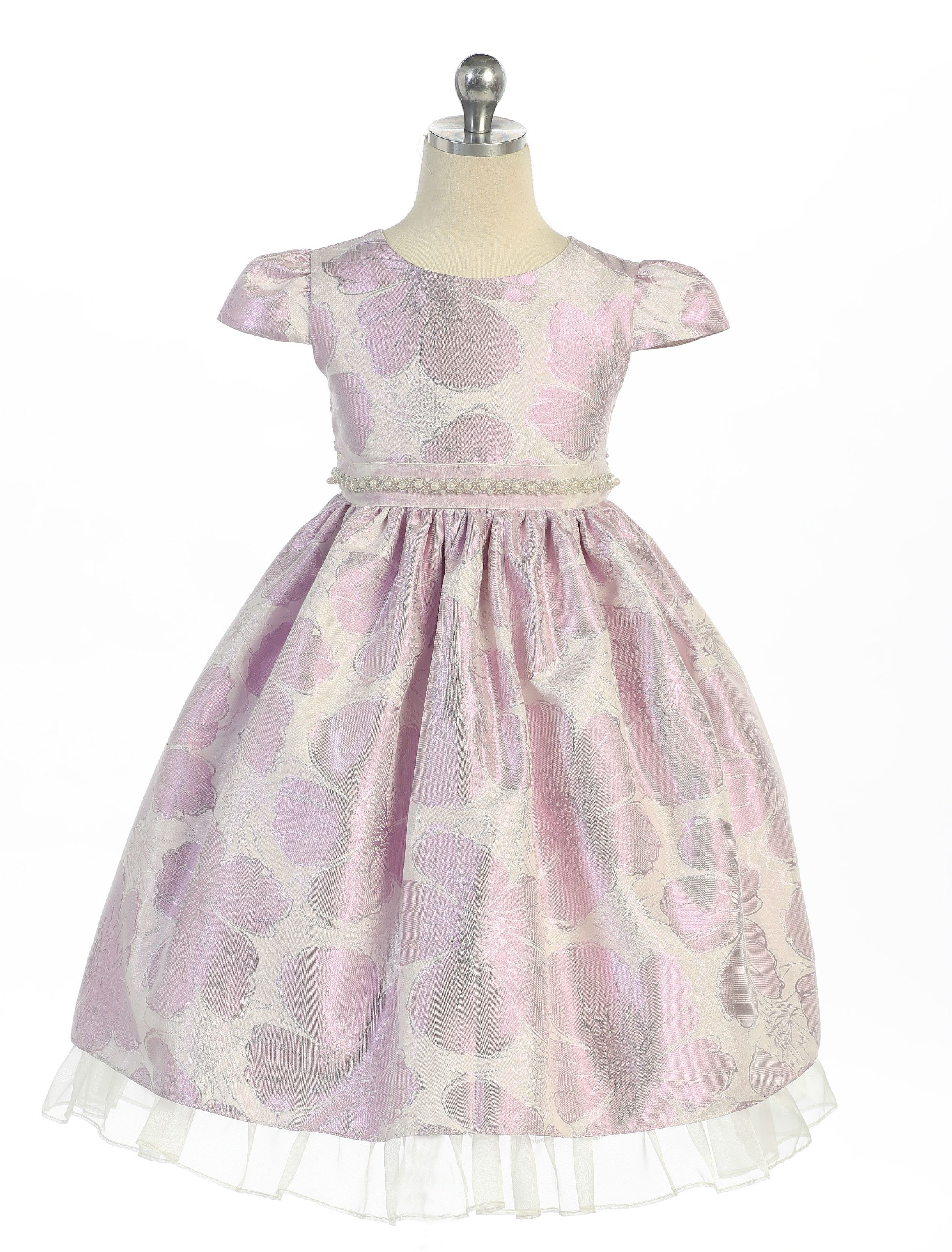 58fcadb768e Girls Dress Style 989 - Metallic Jacquard Dress in Choice of Color We  absolutely love the
