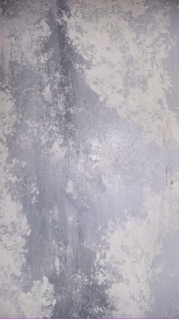 Beautiful Grey Blue Plaster Over Metallic Paint Effect Decoracion En Panama