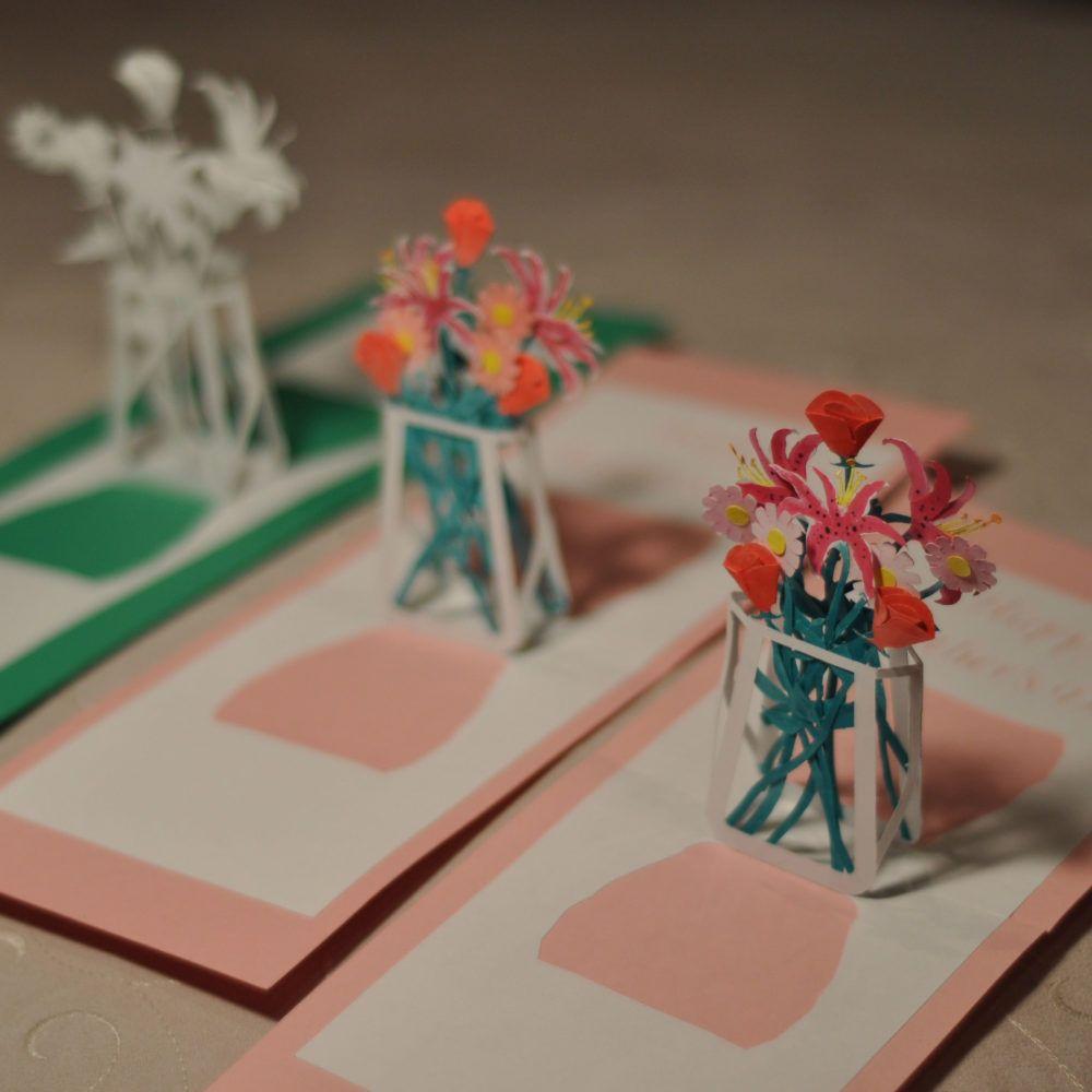 Flower Bouquet Pop Up Card Template Creative Pop Up Cards Pop Up Card Templates Pop Up Flower Cards Pop Up Cards