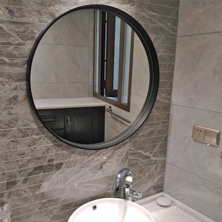 Black Frame Bathroom Mirror Decoration Mirror Wall Mounted Mirror Mirror Wooden Mirror Frame Mirror Wall Bathroom
