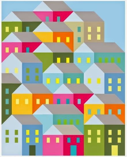 Pretty Little Quilts: Hillside Houses Quilt-A-Long   Quilting ... : house patterns for quilts - Adamdwight.com