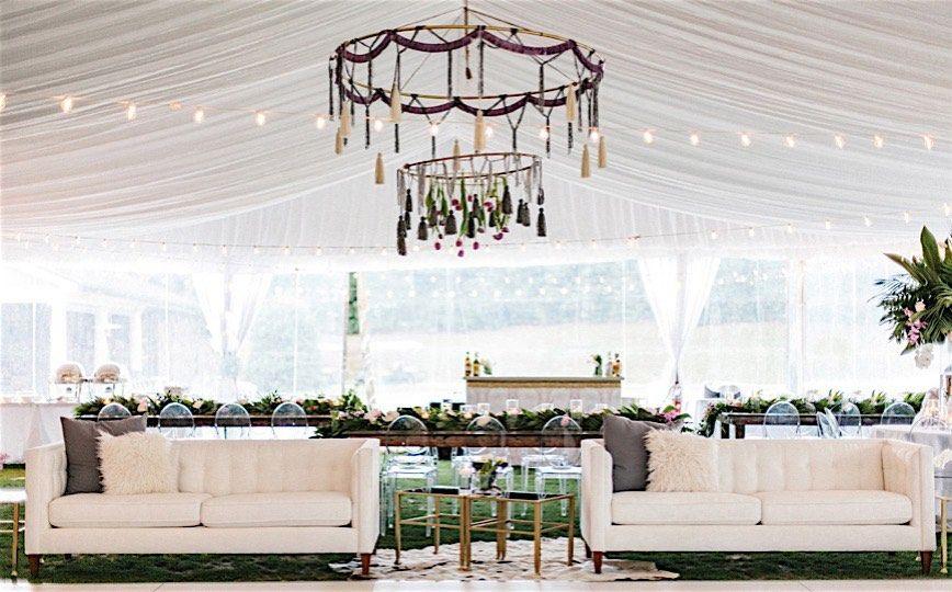 North Carolina Wedding: Boho Glamour