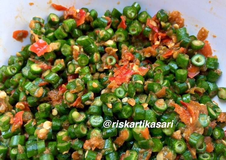 Resep Sambal Mentah Kacang Panjang Oleh Riska Kartika Sari Resep Kacang Resep Resep Masakan