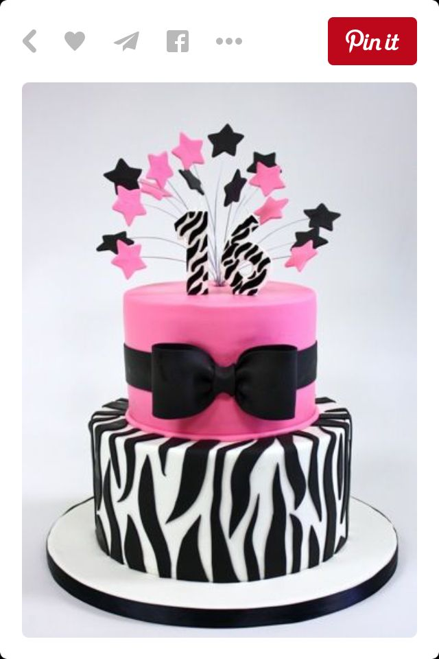 Pink Zebra Birthday Cakesbirthdayparty Decor Ideas Pinterest