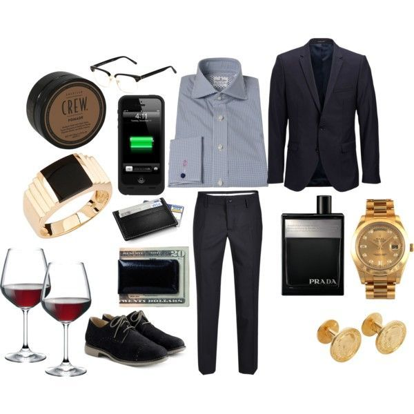 First Date Outfit for Men #4- cocktail, fancy dinner, play\