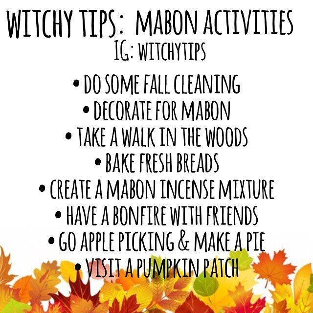 "✨ Witchy Tips ✨ (@witchytips) on Instagram: ""Here is only SOME activities you can do to celebrate Mabon, my favourite sabbat other than Samhain!…"" #maboncelebration ✨ Witchy Tips ✨ (@witchytips) on Instagram: ""Here is only SOME activities you can do to celebrate Mabon, my favourite sabbat other than Samhain!…"" #maboncelebration"
