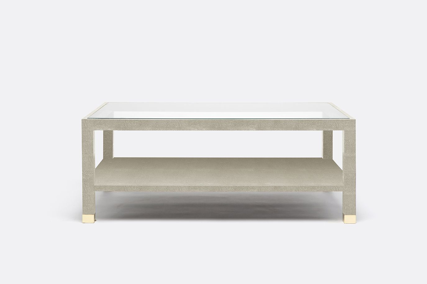 LAFEU Faux shagreen coffee table with glass top