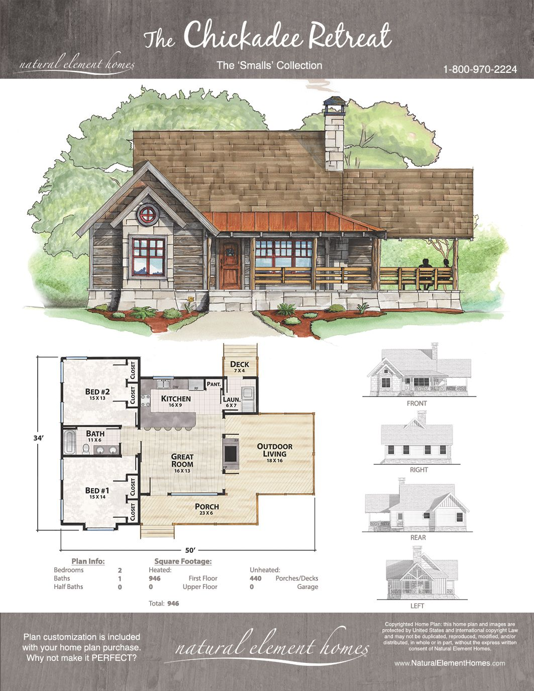 Chickadee Retreat | Natural Element Homes | Smalls Collection ...