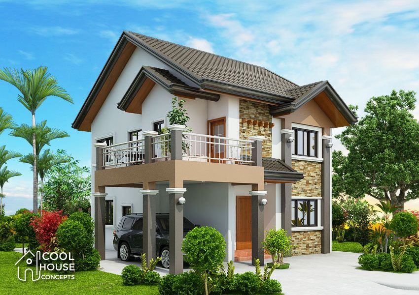 Excellent Four Bedroom Two Storey House Design Cool House Concepts Home Wiring Cloud Hisonuggs Outletorg