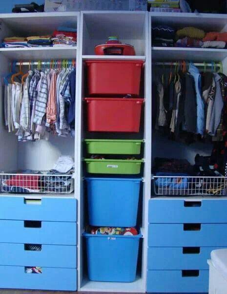 Ikea Children S Storage Units For Closet Organizing Kids Closet