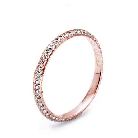 Puurrrfect Wedding Band Tacori 2520et 18kt Rose Gold Knifed Edge
