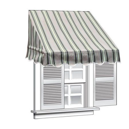 Aleko 8 X 2 Window Awning Door Canopy Multistripe Green Color In 2020 Door Canopy Window Awnings Canopy