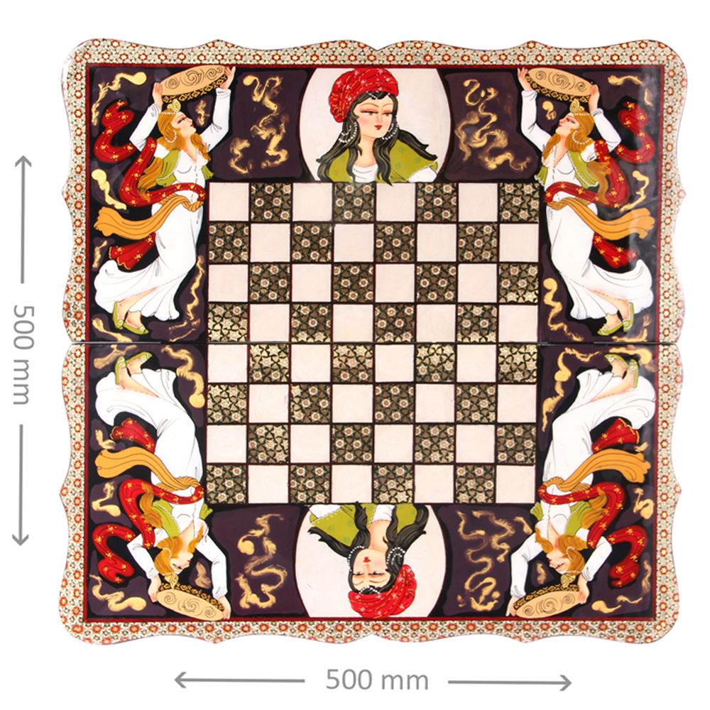 Elegant Wooden Handmade Chess And Backgammon Board With Special