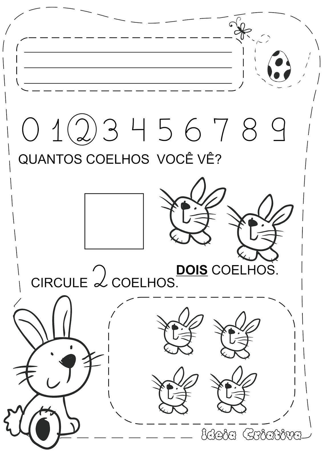 Caderno De Atividades Páscoa Grátis Pascoalino E Os Numerais
