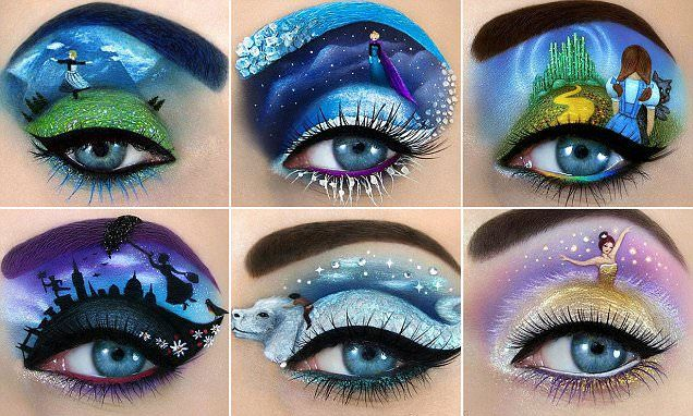 Make up artist creates fairytale inspired designs on her eyelids