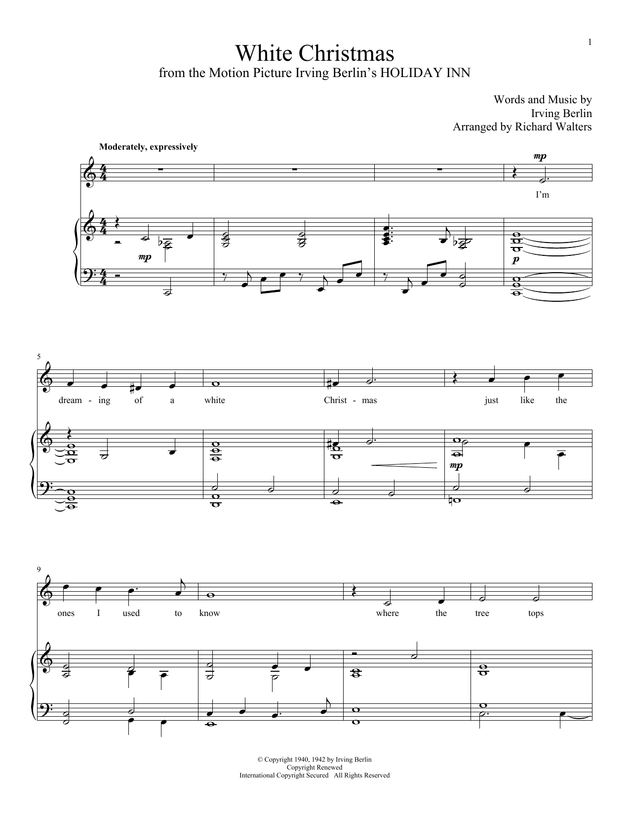 Irving Berlin: White Christmas in 2018 | Partitions guitare ...