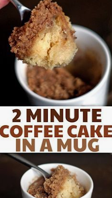 {2 minute} Coffee Cake in a Mug DRINK & FOOD RECIPES