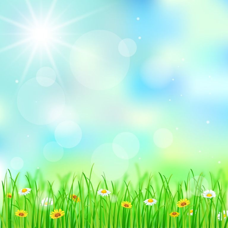 Spring Grass And Followers Background Vector Illustration Free Vector Graphics All Free Web Resources For Designer Web Design Hot Laka