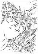 Pumbaa Is Spying Coloring Page Lion King Pinterest Coloring