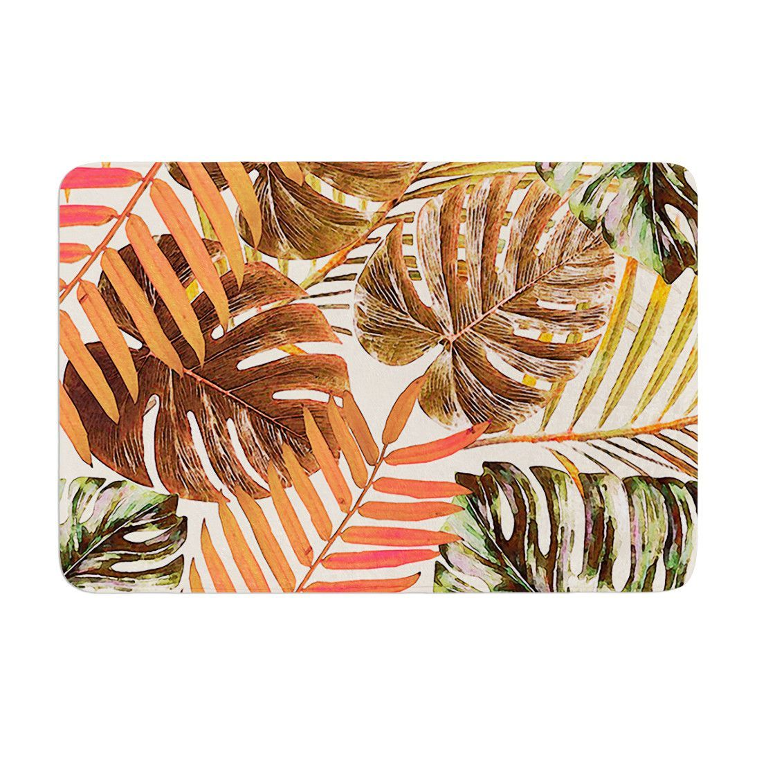 "Alison Coxon ""Jungle Rust"" Orange Brown Memory Foam Bath Mat"