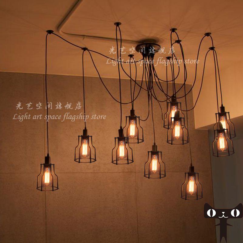 Edison Bulb Chandelier Creative Restaurant Minimalist Living Room