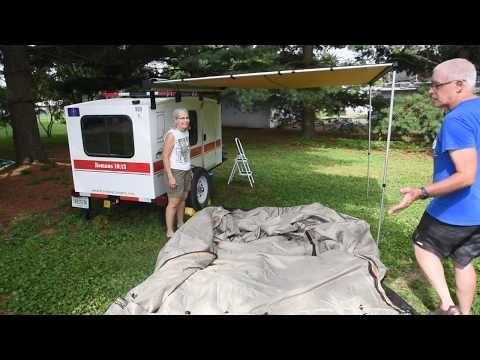 Arb Awning Touring Room On A Runaway Navigator Camper Youtube Runaway Camper Glamping Trailer Camper Awnings
