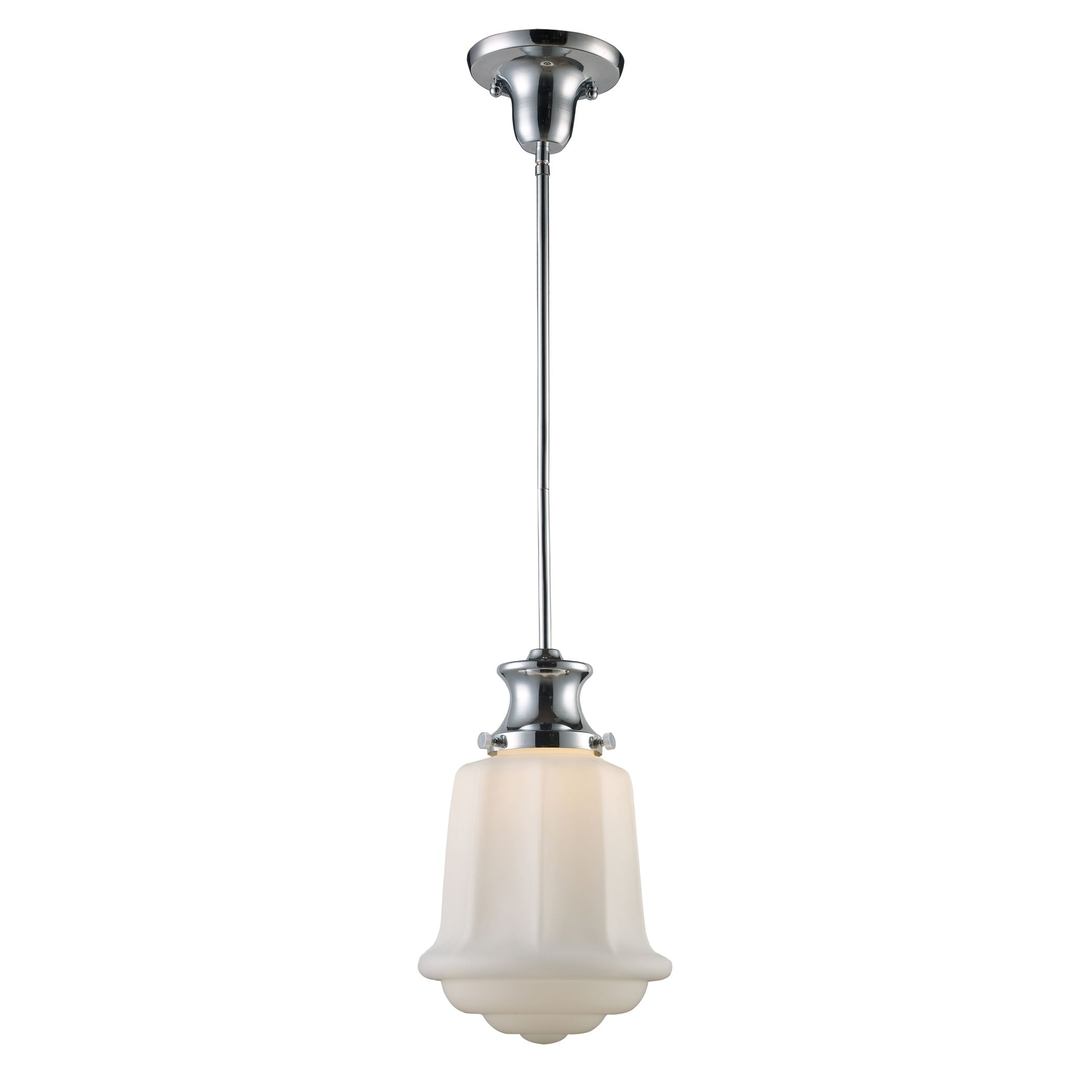 69023-1 Schoolhouse 1-Light Pendant in Polished Chrome